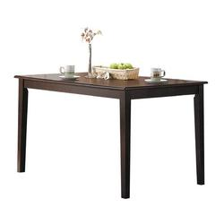 Winston Porter Wilburton Tapered Leg Solid Wood Dining TableWood in Brown, Size 29.0 H x 48.0 W x 32.0 D in | Wayfair