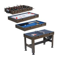 """MD Sports 4 in 1 54"""" Multi Game Table Wood/Mdf in Brown, Size 35.25 H x 54.0 W x 24.5 D in   Wayfair CBF054_058M"""