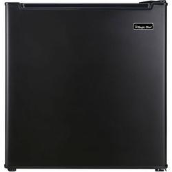 "Magic Chef 1.7 cu. ft. Freestanding Mini Fridge w/ Freezer Finish: in Black, Size Small (15"" H - 30"" H) | Wayfair MCR170BE"