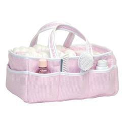 Harriet Bee Trafford Houndstooth Crib Diaper Stacker in Pink, Size 13.0 W x 7.0 D in   Wayfair 54249AEE487A47C686F24F73DCE2AF9E