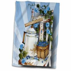 Symple Stuff Kondo Garden Chair Hand Towel Terry in Black/Blue, Size 22.0 H x 15.0 W in | Wayfair 0DAC04F3982E48C1BB071DB7EB9B5E0F