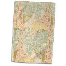 Symple Stuff Gilder Botanical Floral Botanical Garden Vintage Art Nouveau Artwork Hand Towel Terry in Blue/Brown, Size 22.0 H x 15.0 W in | Wayfair