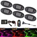 NBWDY 6 Pods RGB LED Rock Lights, Wheel Well Lights,Led Underglow Kit Led Interior Lights Waterproof Music Lighting Kit with APP & RF Control for Off Road Truck SUV ATV Golf Car Motorcycle