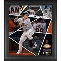 """""""Buster Posey San Francisco Giants Framed 15"""""""" x 17"""""""" Impact Player Collage with a Piece of Game-Used Baseball - Limited Edition 500"""""""