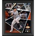 """""""Fanatics Authentic Buster Posey San Francisco Giants Framed 15"""""""" x 17"""""""" Impact Player Collage with a Piece of Game-Used Baseball - Limited Edition 500"""""""