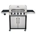 Char-Broil Performance Series 5-Burner Propane Gas Grill w/ Side Burner & CabinetStainless Steel/Cast Iron in Black/Gray | Wayfair 463373019