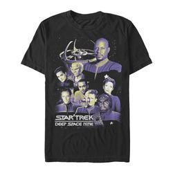 Fifth Sun Men's Tee Shirts BLACK - Star Trek DS9 Black & Purple 'Deep Space Nine' Team Tee - Men