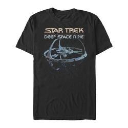 Fifth Sun Men's Tee Shirts BLACK - Star Trek DS9 Black & Blue 'Deep Space Nine' Tee - Men