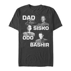 Fifth Sun Men's Tee Shirts BLACK - Star Trek Black 'Dad You Are As' Deep Space Tee - Men