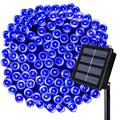 Solar Christmas Lights ,72ft 200 LED Blue Solar String Lights ,8 Modes Solar Lights Outdoor Decorative Lighting for Home Lawn Garden Wedding Patio Party Holiday