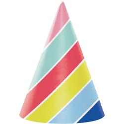 Creative Converting Over the Rainbow Hat Paper Disposable Party Favor Paper in Blue/Red/Yellow | Wayfair DTC340111HAT