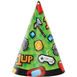 Creative Converting Video Game Hat Paper Disposable Party Favor Paper in Green/Red/Yellow | Wayfair DTC336680HAT