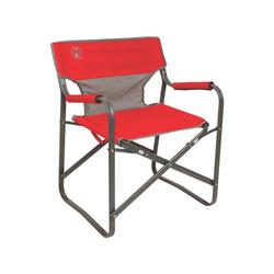 Coleman Camp & Hike Steel Deck Chair Supports up to 300 lbs Red Seat 20.5 in 2000019421