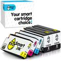 Smart Ink Compatible Ink Cartridge Replacement for Canon PGI 1200 PGI-1200 XL ( BK/C/M/Y 5 Pack Combo) for Maxify MB2320 MB2020 MB2720 MB2120