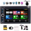 Free Camera Included!6.2 inch car Audio Double din 2 Din Car Stereo DVD Player Navigation automagnitol 2din auto Tactics in Dash headunit auto Radio in Dash pc System Unit with GPS,Bluetooth,USB,