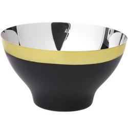 Charlton Home® Devane Stainless Steel Salad BowlStainless Steel in Black/Gray/Red, Size 3.0 H x 6.0 W x 6.0 D in | Wayfair