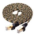 Cat 7 Ethernet Cable 60 ft,Ruaeoda RJ45 Connectors Slim Long Braided Network Internet Cable for PS3,Router,Printer,Ethernet Switch, Modem, Coupler,PC,Mac, Laptop,PS2, PS4,and XBox-10 Gigabit 600Mhz
