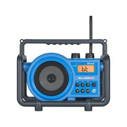 Sangean Camp & Hike AM/FM/Bluetooth/Aux-in Ultra Rugged Rechargable Digital Tuning Radio Blue Small