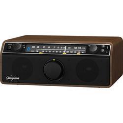 Sangean Camp & Hike AM/FM Analog w/ Bluetooth Wireless/AUX-In Bass & Treble Control Dark Walnut