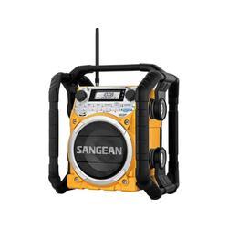 Sangean Camp & Hike AM/FM/WX/Bluetooth Aux-in Rugged Rechargable Digital Tuning Radio Yellow Medium