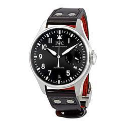 IWC Big Pilot Automatic Black Dial Black Leather Men's Watch IW501001