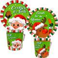 """""""Cookies For Santa"""" Plate and Mug Set: Reindeer and Santa Designs Melamine Wares (Santa & Reindeer)"""