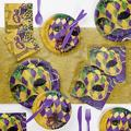 Creative Converting Masks of Mardi Gras Paper/Plastic Disposable Party Supplies KitPaper/Plastic in Brown/Indigo | Wayfair DTC3856E2A
