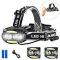 Headlamp Flashlight, Led Headlamp Sensor USB Rechargeable Headlamp 7 Modes Headlamp Waterproof Headlight for Camping, Hiking, Dog Walking,Running