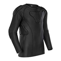 Youth Boys Padded Shirt Padded Compression Sports Protective T-Shirt Rib Chest Protector Extreme Exercise