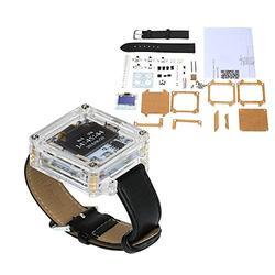 Pukido Single-Chip Digital LED Watch Electronic Clock Kit Transparent Watch DIY LED Digital Tube Wristwatch DIY Kit - (Color: Transparent)