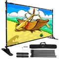 VEVOR 8' Banner Stand Adjustable Display Backdrop Lightweight Portable Trade Show Wall for Photography(8' Banner Stand)