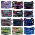 KALILY 12PCS Headband Bandana - Versatile Sports Headwear –Multifunctional Seamless Neck Gaiter, Headwrap, Balaclava, Helmet Liner, Face Mask for Camping, Running, Cycling (12PCS- B Set)
