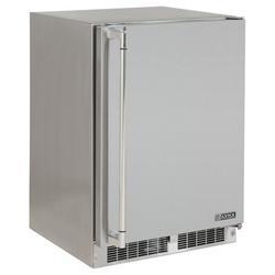 Lynx 3.9 cu. ft. Outdoor Rated Undercounter Mini Fridge w/ FreezerStainless Steel in Gray, Size 34.75 H x 23.875 W x 26.625 D in | Wayfair