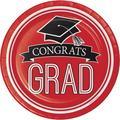 Creative Converting Graduation School Spirit Paper Dessert Plate Paper in Red/Black   Wayfair DTC320084DPLT