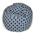 Wade Logan® Banas Cotton Twill Bean Bag Chair & Lounger Stain Resistant/Water Resistant in Blue, Size 22.0 H x 28.0 W x 28.0 D in | Wayfair