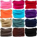 KALILY 12PCS Headband Bandana - Versatile Sports Solid Headwear –Multifunctional Seamless Neck Gaiter, Headwrap, Balaclava, Helmet Liner, Face Mask for Camping, Running, Cycling (12PCS- A Set)