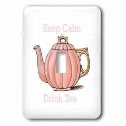 3dRose Teapot 1-Gang Toggle Light Switch Wall Plate in Pink, Size 5.0 H x 3.5 W x 0.06 D in | Wayfair lsp_238658_1