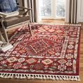 Millwood Pines Jazlyn Southwestern Red Area Rug in White, Size 60.0 H x 36.0 W x 0.23 D in | Wayfair B4F0F4E9C1654CE39E082D9C1ADE042B