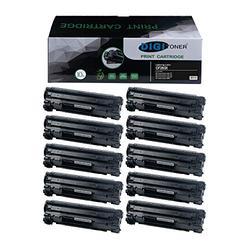 DIGITONER Compatible High Yield Toner Cartridge for HP CF283X Canon CRG137 Toner Cartridge – HP 283X Canon 137 High Yield Toner Cartridge Replacement for HP Laser Printer – Black [10 Pack]