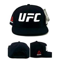 Reebok UFC New RBK MMA Black White Fight Grade Fighter's Era Snapback Hat Cap