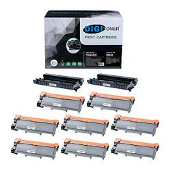 TonerPlusUSA Compatible Toner Cartridge and Drum Unit Set Replacement for Brother TN660 TN630 DR630 High Yield for DCP-L2540DW/HL-L2300D/L2360DW/MFC-L2680W/L2685DW Black (2DR630+ 8TN660, [2+8] Pack)