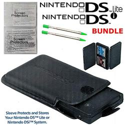 Protective Sleeve, 4-Game Cartridge Case, 2 Stylus and 2 Screen Protectors Bundle for Nintendo DSi and Nintendo DS Lite