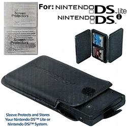 Protective Sleeve, 4-Game Cartridge Case, and 2 Screen Protectors Bundle for Nintendo DSi and Nintendo DS Lite