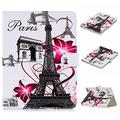 """UGOcase Universal Case for 9.5""""-10.5"""" Tablet, PU Leather Slim Magnetic Kickstand Cards Holder Wallet Case Cover for Kindle HD 10, iPad, Galaxy Tab T560NU, Nexus, RCA, LG, ASUS & More, Eiffel Tower"""