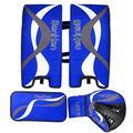 BenKen Sports Ice Hockey Gear Goalie Pad Pack Ice Hockey Equipment Hockey Gloves ice Hockey Knee Pads Teenager & Adult Blue Black (Blue 23'')