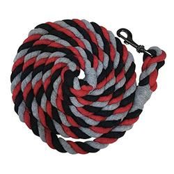Kensington Horse Lead Rope Extra-Durable 10Ft. Heavy Super-Strength Ballistic Nylon Triple Colored Lead Rope for Horses Perfect for Training