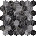 M S International Henley Hexagon Natural Marble Tile for Kitchen Backsplash, Wall Tile for Bathroom, Accent Wall Tile, and Shower Wall Tile, 11.81 in. x 12 in. Mesh-Mounted Mosaic Tile (9.8 sq. ft./case)