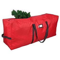 """Primode Christmas Tree Storage Bag   Fits Up to 9 Ft. Tall Disassembled Tree   25"""" Height X 20"""" Wide X 65"""" Long   Durable 600D Oxford Material   Heavy Duty Xmas Storage Container (Red)"""