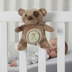 L.A. Baby Cinch Plush Mini Teddy Bear Sleep Aid Womb Sound Soother MobileFabric in Brown, Size 5.5 H x 3.5 W x 8.0 D in | Wayfair CSSPLY-BR
