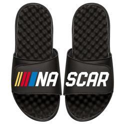 """""""Men's ISlide Black NASCAR Split Logo Slide Sandals"""""""